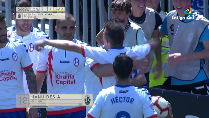 LaLiga 123: Rayo Majadahonda - Cádiz. Gol del Rayo Majadahonda (1-1)