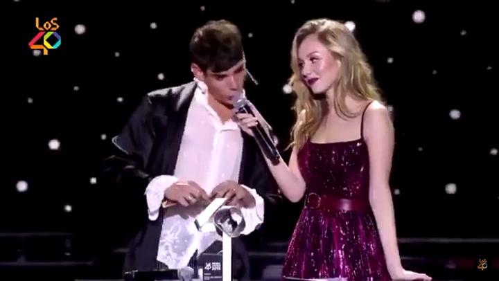 El bochornoso espectáculo de César Vicente en la entrega de  los 40 Music Awards