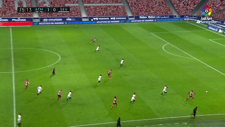 Gol de Saúl (2-0) en el Atlético de Madrid 2-0 Sevilla