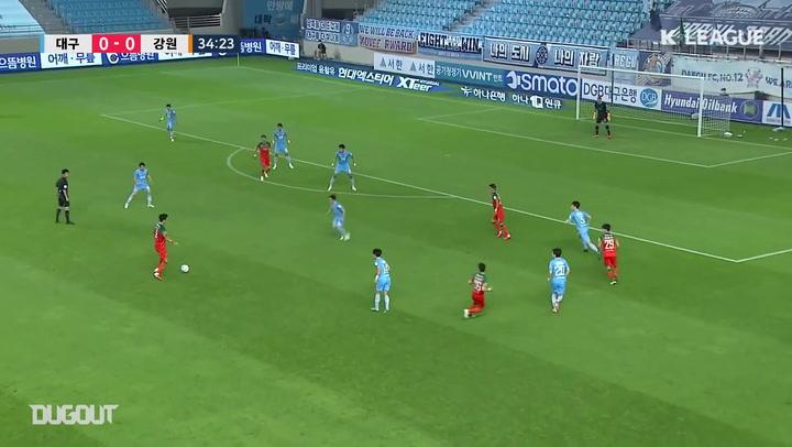 Cesinha decide, e Daegu bate Gangwon na K-League 2020