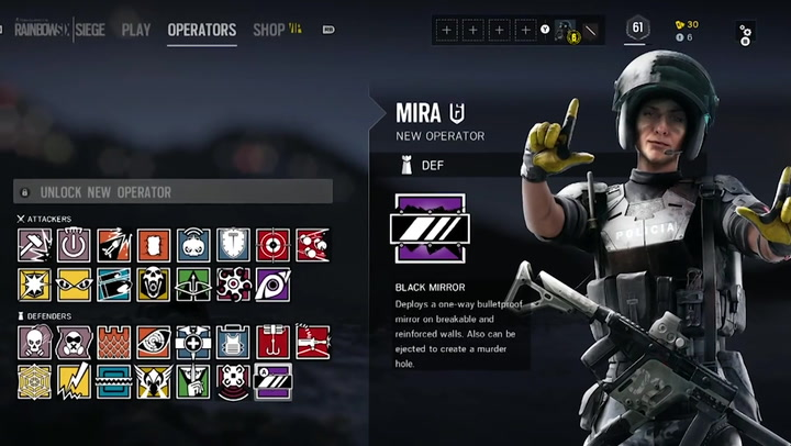 Rainbow Six Profile Mira