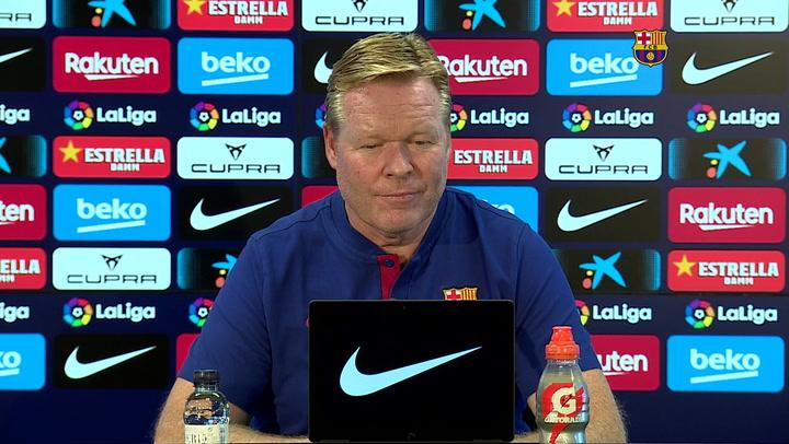 La rueda de prensa de Ronald Koeman, previa al Barça - Real Madrid