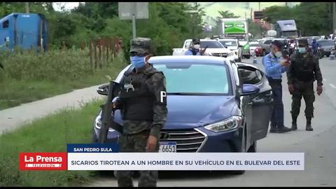 Sicarios tirotean a un hombre en su vehículo en el bulevar del este de San Pedro Sula