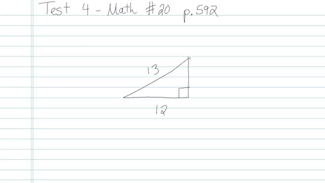 Test 4 - Math - Question 20