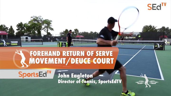 Forehand Return Of Serve - Movement / Deuce Court