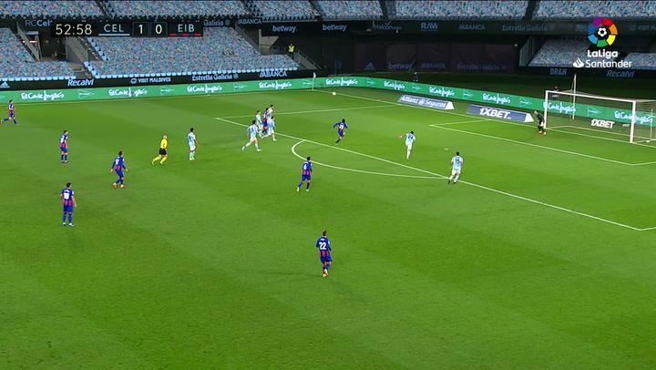 Gol de Bryan Gil (1-1) en el Celta 1-1 Eibar