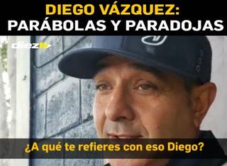 Las curiosas frases de Diego Vázquez a Olimpia: