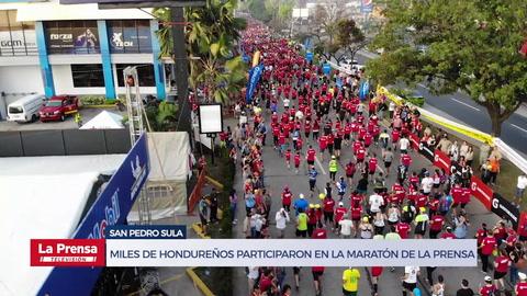 Miles de hondureños participaron en la Maratón Internacional de LA PRENSA