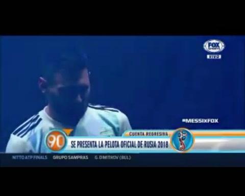 Messi presentó la pelota oficial del Mundial de Rusia