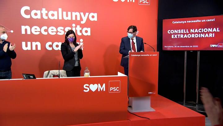 PSC ganaría las catalanas en votos, según el CIS