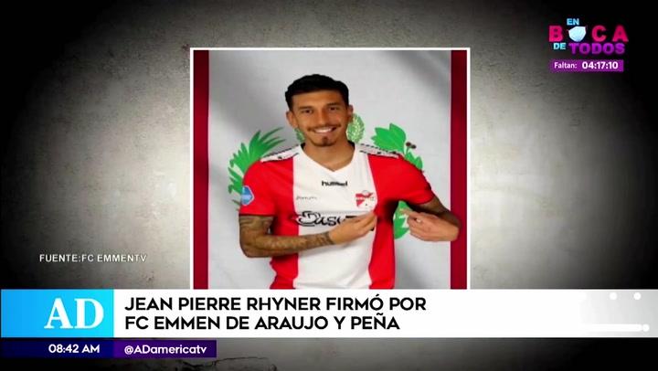 Jean Pierre Rhyner llegó al FC Emmen y será compañero de Araujo y Peña