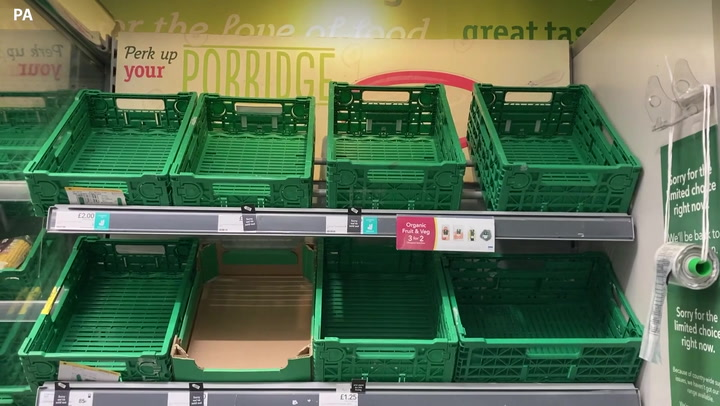 CO2 crisis: Worrying footage shows empty supermarket shelves in east London