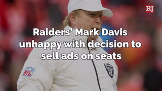 Raiders' Mark Davis unhappy with decision to sell ads on seats – Video