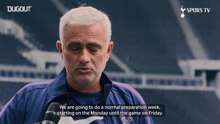 Jose Mourinho on Spurs' preparations for Man United return