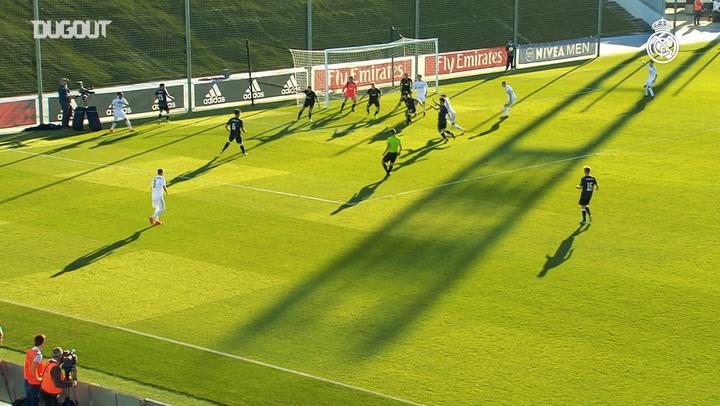Álvaro Fidalgo's goal with Real Madrid Castilla against San Sebastián de los Reyes in 2020
