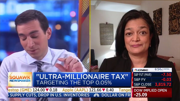 Dem Rep. Jayapal: 'Nothing Confiscatory' About Ultra-Millionaire Tax