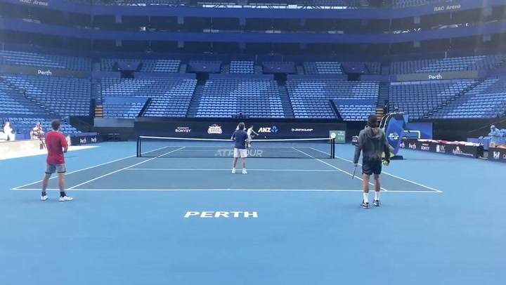 El entrenamiento de España en Perth en la ATP Cup