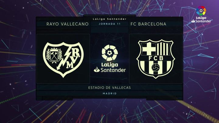 LaLiga Santander (J11): Resumen y gol del Rayo Vallecano 1-0 Barcelona