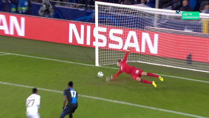 Champions League: Brujas - Real Madrid. Gol de Rodrygo (0-1)