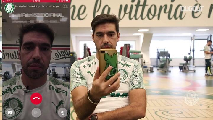 Abel Ferreira faz ligação e convida torcedores do Palmeiras para final da Libertadores