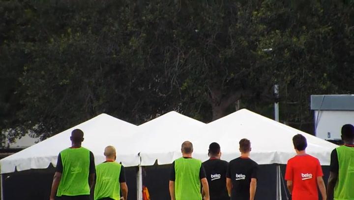 Trifulca entre Neymar y Semedo durante un entrenamiento en 2017