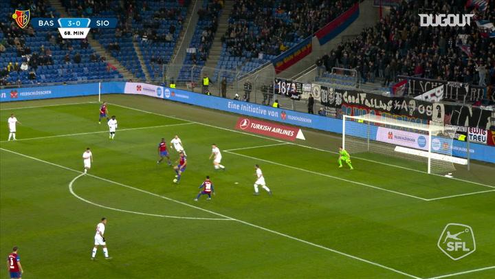 Afimico Pululu's first FC Basel 1893 goal vs FC Sion