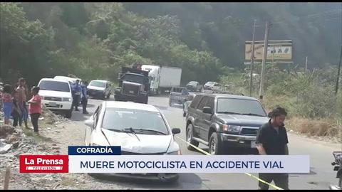 Muere motociclista en accidente vial en Cofradía, Cortés