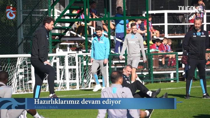 Trabzonspor'un Antalya Kampı Devam Ediyor