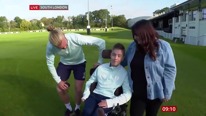Fulham star Tim Ream surprises young disabled fan who was abused online