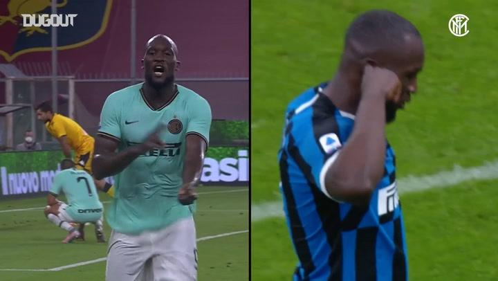 Golaços de Lukaku contra o Genoa em 2019/20