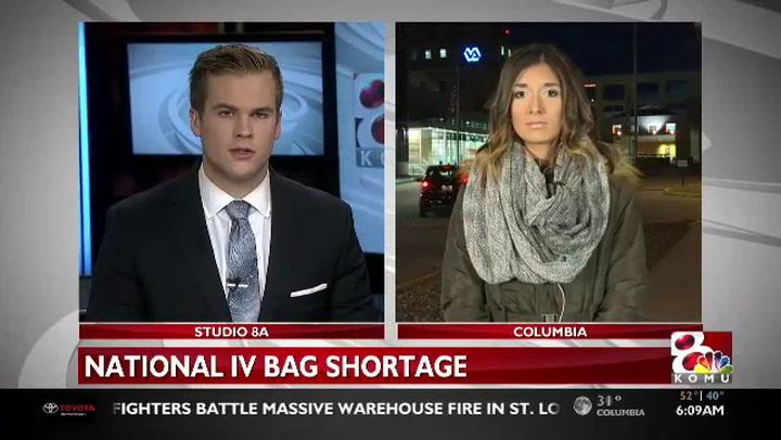 U.S. hospitals see IV bag shortage