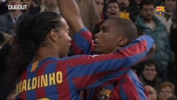 Todos los goles de Samuel Eto'o contra el Real Madrid