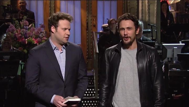 Seth Rogen's 2014 SNL joke about James Franco meeting underage girls