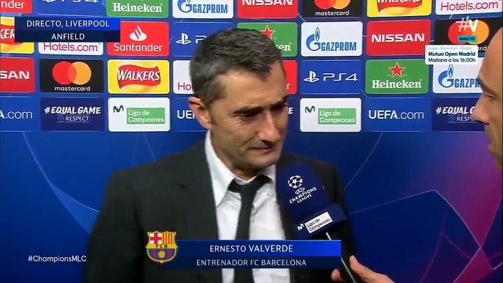 Ernesto Valverde: ''Cuando te ganan 4-0 no tienes que poner excusas''