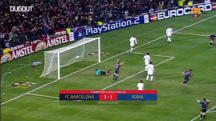 Compilation of FC Barcelona's goals against Italian teams