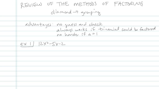 Review of the Methods of Factoring - Problem 12