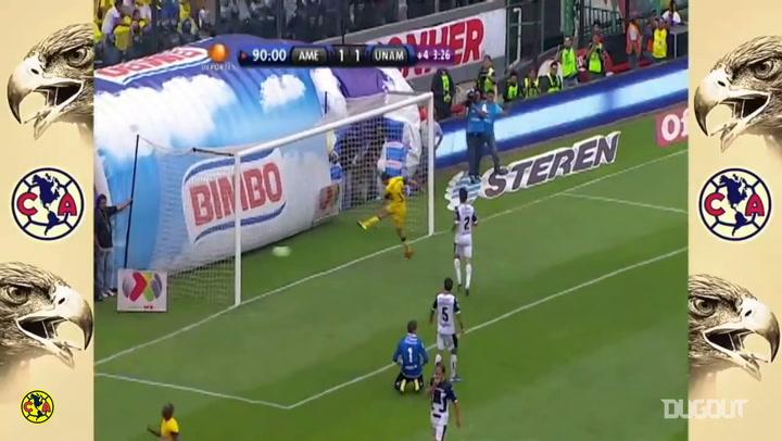 Chucho Benítez's solo goal vs Pumas
