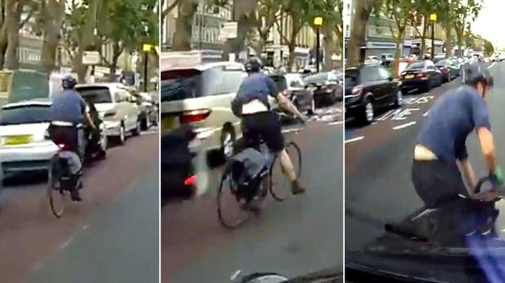 Syklist hadde griseflaks da uhellet var ute