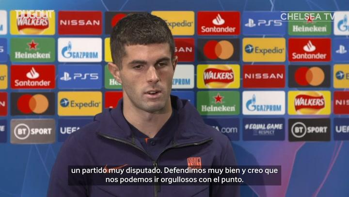 Pulisic habla del empate del Chelsea ante el Sevilla