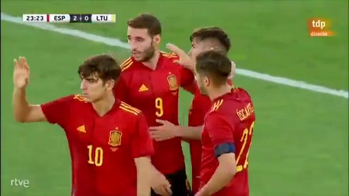 Brahim anota el 2-0 de España ante Lituania