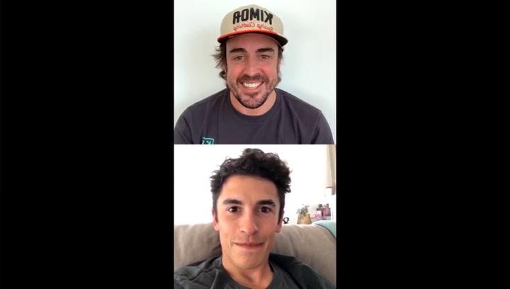 Alonso y Márquez se animan mutuamente