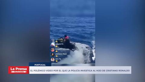 El polémico video por el que la Policía investiga al hijo de Cristiano Ronaldo