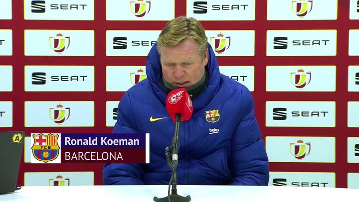 Koeman, crítico con sus jugadores y los penaltis