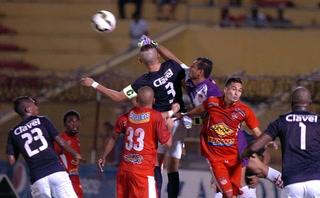 Final del primer tiempo en El Progreso, Yoro. Honduras empata 1-1 contra el Vida.