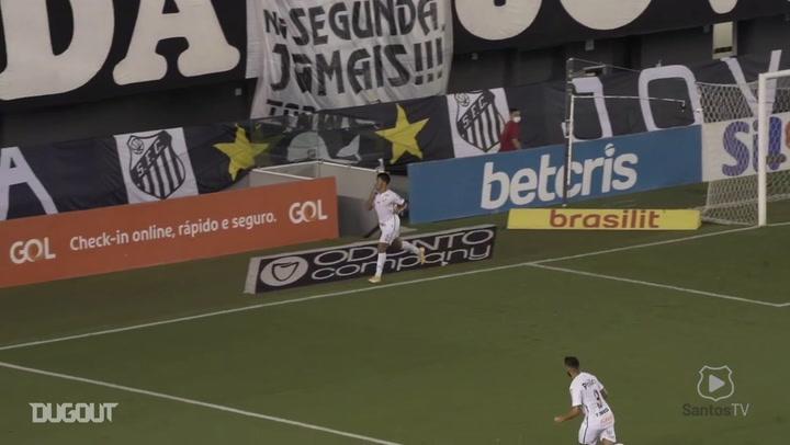 Marcos Leonardo secures Santos' victory vs Corinthians