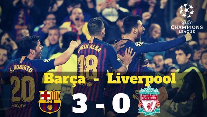 Champions League: Resumen del Barça-Liverpool (3-0)