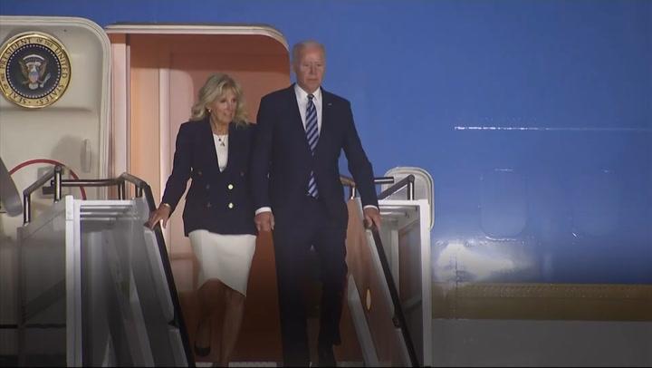 Biden touches down in Cornwall for G7 summit