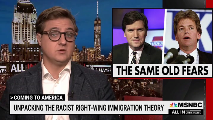 MSNBC's Hayes: Tucker Carlson Like David Duke for Opposition to Influx of Illegal Migrants