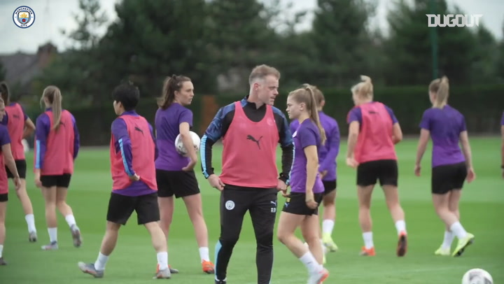 Training Ahead Of First Manchester Derby