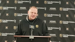 Golden Knights Coach Gerard Gallant On His Team's Penalty Killing